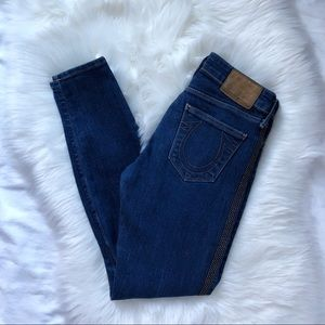 True Religion Halle Skinny Dark Studded Jeans 26